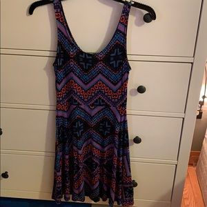 Aztec printed dress
